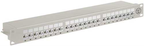 Panou patch CAT6 Ethernet cu 24 porturi, Goobay