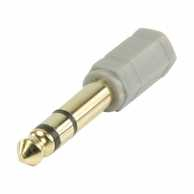 Adaptor audio stereo Jack 6.35mm tata - Jack 3.5mm mama gri, Bandridge