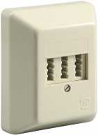 3x TAE-NFN wall plate, beige - screw mount