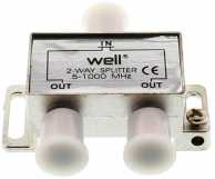 Splitter CATV 2 cai 2500 Mhz Well