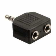 Splitter audio 3.5 mm tata - 2x mama, negru