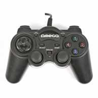 Gamepad USB PC Interceptor, neagra, Omega