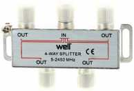 Spliter CATV 4 cai 2450 Mhz Well