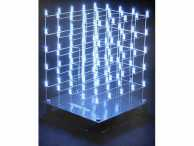 KIT 3D LED CUBE 5 x 5 x 5 (white LED)
