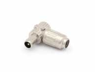 TV PLUG 90° MALE, FULL METAL SCREENED, 9.5mm/2.3mm