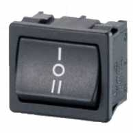 Rocker switch 2P 10 A 250 VAC