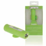 Power Bank Portabil 2500 mAh USB Verde /Alb