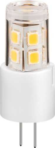 LED compact lamp, 2.4 W - base G4, 20 W equivalent, warm white, not dimmable