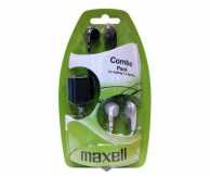 Set 2 casti in ureche + splitter Maxell