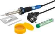 30 W soldering iron set, grey - Five-part soldering set for fine soldering work
