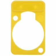 Colorcoded marking plate yellow