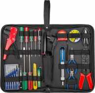 Tool bag with soldering set - 20-piece tool set in practical storage bag