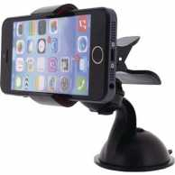 Universal Smartphone Mount In-Car Window and Dashboard Black