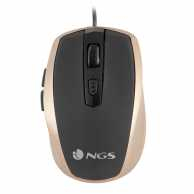 Mouse optic USB 800/1600dpi auriu, NGS
