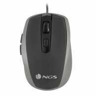 Mouse optic USB 800/1600dpi argintiu, NGS