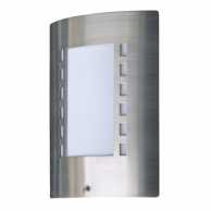 Outdoor Wall Light 60 W Day/Night Brushed Steel