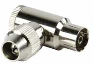 Conector coaxial profesional mama, cotit