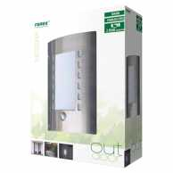 Outdoor Wall Light 60 W With Motion Sensor Brushed Steel