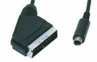 Cablu audio/video SCART 21 pini tata <-> S-VHS 4 pini tata, 1.5m, Well