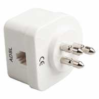 Telecom Adapter Italy Male - Italy Female / RJ11 (6P4C) Female White