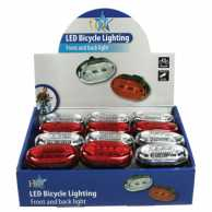 Bicycle Light 0.06 W 3 LED Black / Red