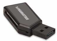 Cititor de card mini 24-in-1 USB 2.0 negru 101677 Manhattan