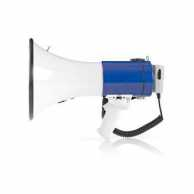 Megaphone | 25 W | 1500 m Range | Detachable Microphone | White / Blue