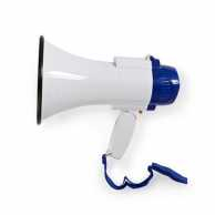 Megaphone | 10 W | 250 m Range | Built-in Microphone | White / Blue