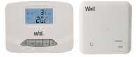 Termostat electronic programabil cu afisaj digital wireless Well