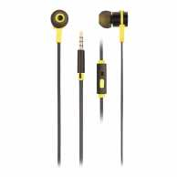 Casti In-Ear cu fir, Cross Rally Black negru/galben, NGS