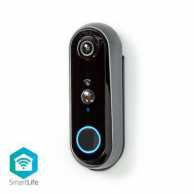 SmartLife Video Doorbell | Battery Powered | Android™ & iOS | Full HD 1080p | Cloud Storage (optional) / microSD (not included) | IP54 | With motion sensor | Night vision: 5 m | Wi-Fi | Grey/Black